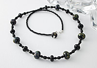 Black Lampwork Necklace
