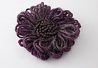 Dusky Purple Flower Brooch