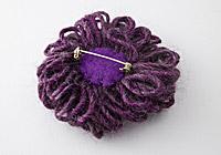 Dusky Purple Flower Brooch alternative view 1