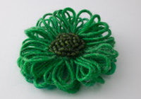Mid Green Flower Brooch