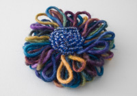 Multi Coloured Flower Brooch