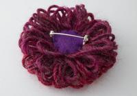 Pinky Red Flower Brooch alternative view 1