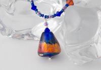 """""""Cobalt Blues"""" Lampwork Necklace"""