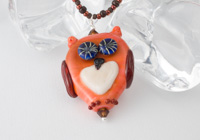 """Owly"" Lampwork Necklace"