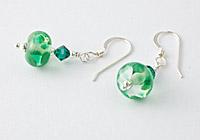 Green Lampwork Earrings