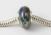 Metallic Silver Cored Lampwork Bead