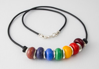 Rainbow Lampwork Necklace