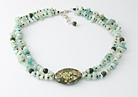 Rhyolite, Amazonite and Serpentine Necklace