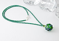 Green Wiggle Pendant Necklace