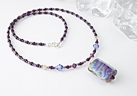 "Lampwork Necklace ""Purple Mist"" alternative view 1"