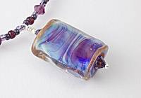 "Lampwork Necklace ""Purple Mist"""