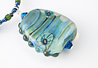 Turquoise Blue Lampwork Necklace