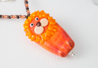 Lion Lampwork Pendant Necklace