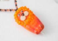 Lion Lampwork Pendant Necklace