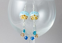 Dahlia Dangle Lampwork Earrings