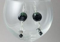 Black Lampwork Earrings alternative view 1