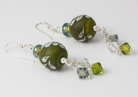 Green Leaf Lampwork Earrings alternative view 1