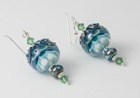 Lampwork Dahlia Earrings