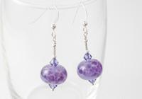 Purple Rose Earrings