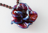 """Clio"" Lampwork Rose Necklace"