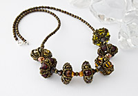 """Beaded Bead Necklace """"Embers"""""""