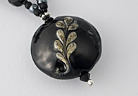 "Black Lampwork Necklace  ""Grace"""