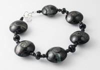 Black Lentil Lampwork Bracelet