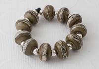 """""""Stone Wall"""" Lampwork Beads"""