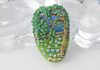 Weeping Willow Tree Lampwork Bead