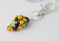 Flower Dahlia Handbag Charm