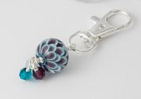 Turquoise Dahlia Handbag Charm