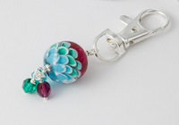 Tropical Dahlia Handbag Charm