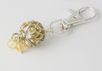 Golden Dahlia Handbag Charm