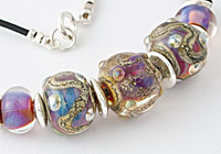 """""""Silvered Beauty"""" Lampwork Necklace"""