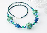 "Lampwork Necklace ""Sea Green"""