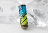 Glitter Tube Lampwork Bead