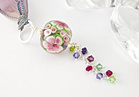 """Garden Rose"" Lampwork Necklace"
