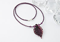 Lampwork Leaf Necklace alternative view 1