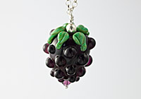 Lampwork Blackberry Necklace