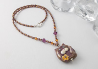 Kitty Cat Lampwork Necklace