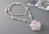 Pink Rose Necklace alternative view 1