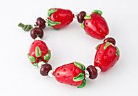 Lampwork Beads - Strawberries