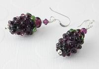 Blackberry Lampwork Earrings