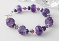 Mixed Purple Lampwork Bracelet alternative view 1