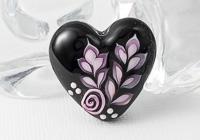 Pink Leafy Heart Bead