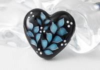 Turquoise Leafy Heart Bead