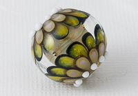 Large Yellow Lampwork Dahlia Bead