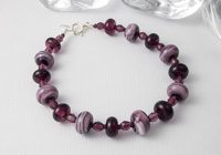 Purple Berry Lampwork Bracelet