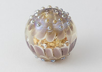 Large Lilac Lampwork Dahlia Bead