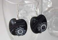 """Graphics"" Lampwork Earrings"